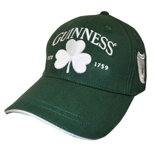 Guinness Guinness Green Basball Cap With White Shamrock Embroidery