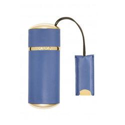 Memo Plain Leather Blue Travel Case