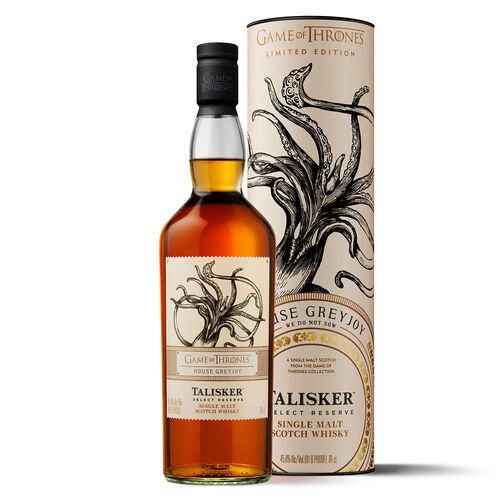 Game of Thrones GOT House Of Greyjoy Talisker Select R Scotch  70cl