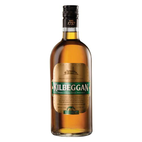Kilbeggan Blended Irish  Whiskey  1L
