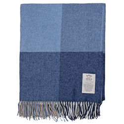 Avoca Capri Denim Cashmere Blend Throw Woven in the Avoca Mill in Ireland