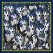 Debbie Millington Wolves Navy Silk Scarf  45cm