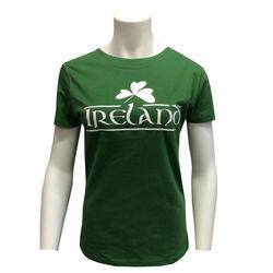 Irish Memories Sage Shamrock Ladies T-Shirt