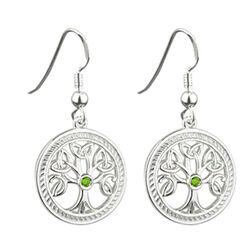 Solvar  S/S Tree Of Life Drop Earrings - Failte