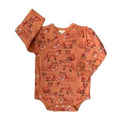 Fauna Kids Kimono Baby Bodysuit Fox Organic 0-3 Months