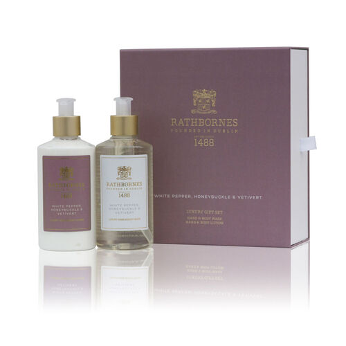 Rathborne  White Pepper, Honeysuckle and Vertivert Luxury Wash and Lotion Gift Set
