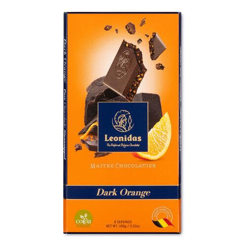 Leonidas Dark Chocolate Orange Tablet 100g