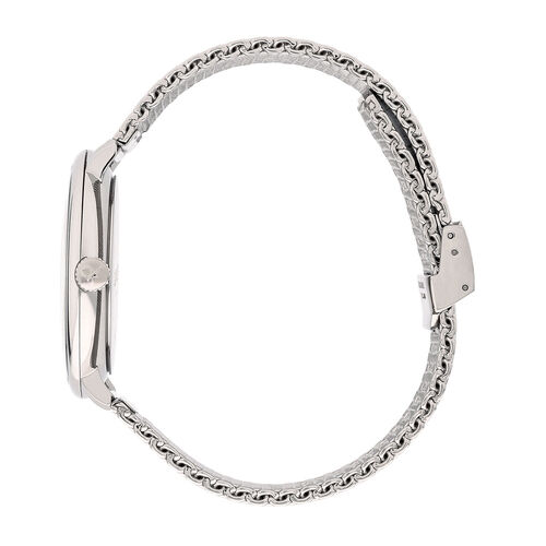 Calvin Klein High Noon Mesh Strap Watch Mens Silver