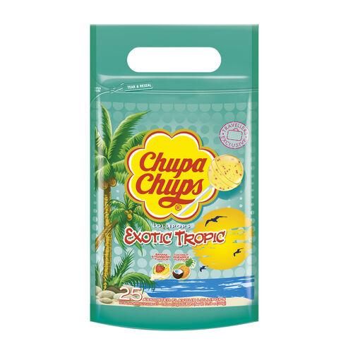 Chuppa Chups Exotic Tropic Pouch Lollipops 300g