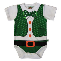 Traditional Craft Kids Leprechaun Print Baby Vest