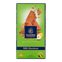 Leonidas Milk Chocolate Hazelnut Tablet 100g