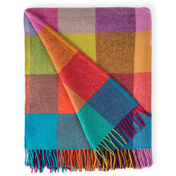Avoca Circus Lambswool Throw Woven in the Avoca Mill in Ireland