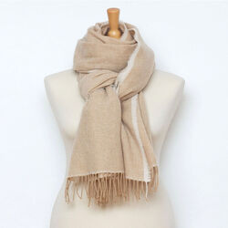 Avoca Cashmere Wool Blend Sandymount Scarf in Camel