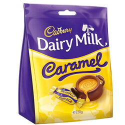 Cadbury Caramel Chunks Bag  220g