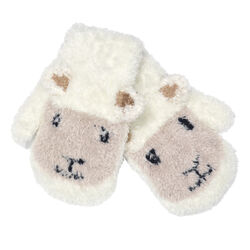 Patrick Francis Cream Baby Sheep Mittens