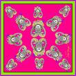 Debbie Millington Jester Ram Pink Silk Scarf  90cm
