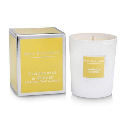 Max Benjamin Lemongrass & Ginger  Luxury Natural Candle Spicy