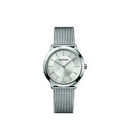 Calvin Klein Minimal Mesh Strap Watch Unisex Silver