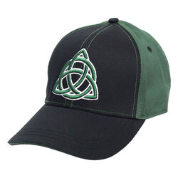 Traditional Craft Adults Black Celtic Twist Embroidery Baseball Cap