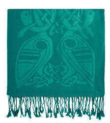 Patrick Francis Dynasty Green Celtic Design Wool Scarf