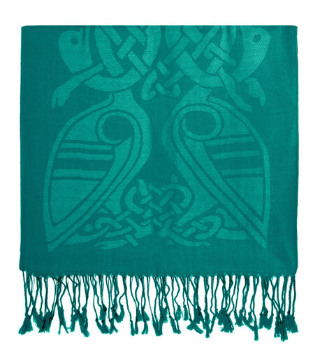 Patrick Francis Dynasty Green Celtic Design Wool Scarf