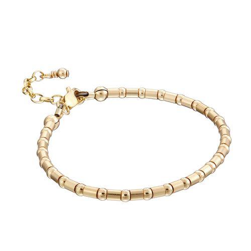Scribble and Stone 14kt Gold Fill Crimp Bead Bracelet