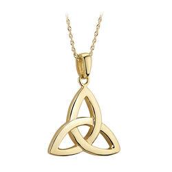 Solvar  14K Large Trinity Knot Pendant
