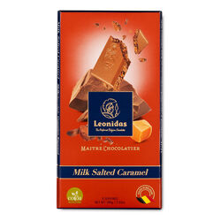 Leonidas Milk Chocolate Salted Caramel Tablet 100g