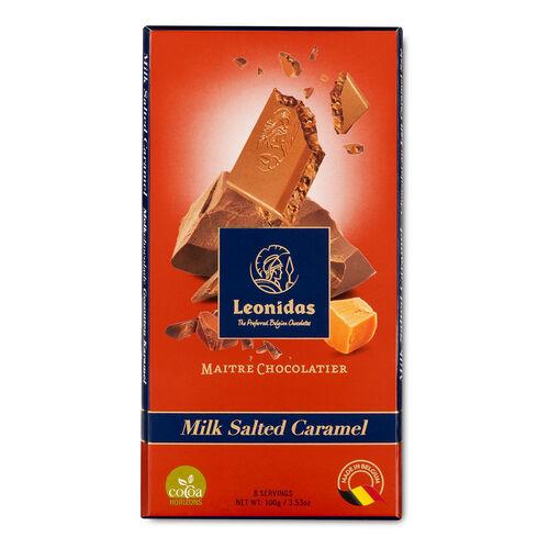 Leonidas Milk Chocolate Salted Caramel Tablet 100g
