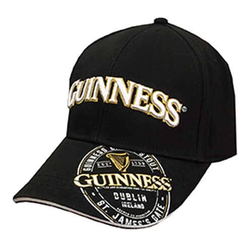 Guinness  Label Black Baseball Cap