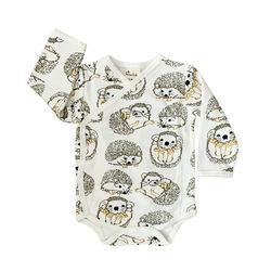 Fauna Kids Kimono Baby Bodysuit Hedgehog Organic 0-3 Months