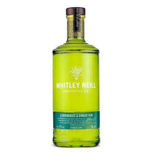 Whitley Handcrafted Lemongrass & Ginger Gin  1L