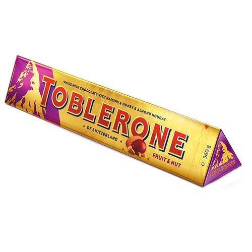 Toblerone Fruit & Nut Chocolate Bar  360g