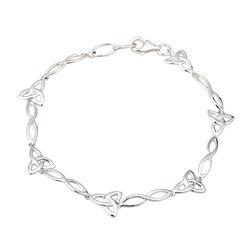Solvar  S/S Trinity Knot Bracelet