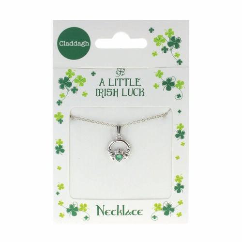 Clover Clover Necklace - Claddagh