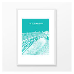 Jando  Landmark Ha'Penny Bridge Large Frame A3