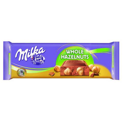 Milka Whole Hazelnuts Tablet  300g