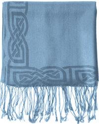 Patrick Francis Denim Wool Blend Pashmina  with Celtic Design