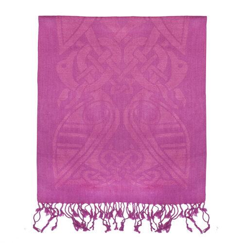 Patrick Francis Magenta Celtic Design Wool Scarf