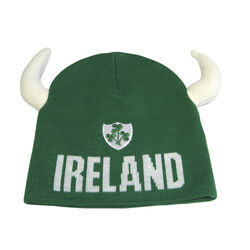 Lansdowne Kids Green Ireland Knitted Hat With Horns Kids