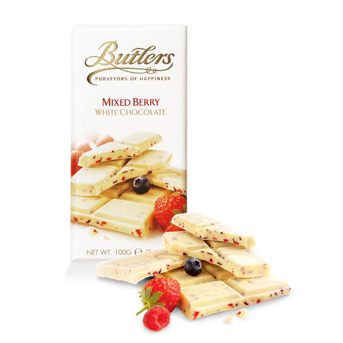 Butlers 100g White Chocolate Mixed Berry Bar