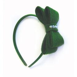 St Patrick Ribbon with Diamonds on Hairband
