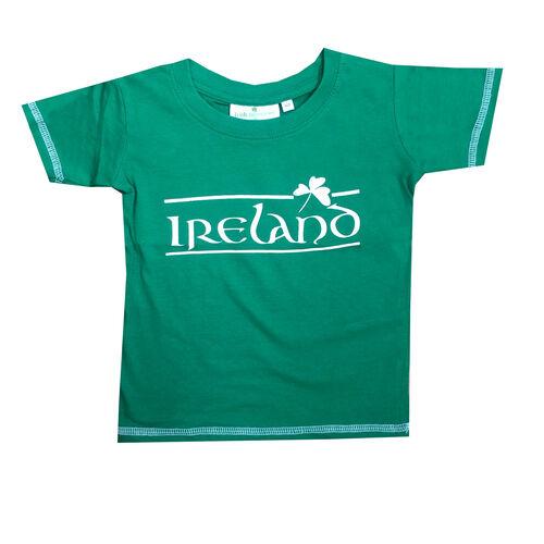 Irish Memories Sage Shamrock Kids T-Shirt With Murphy'S Law On The Back