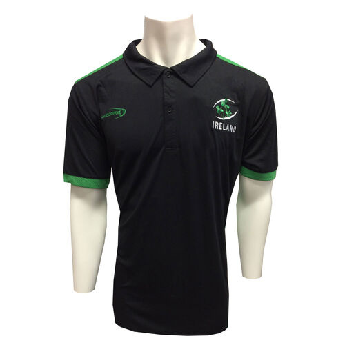 Irish Memories Black Green Performance Polo