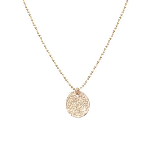 Scribble and Stone 14kt Gold Fill Textured Disc Pendant