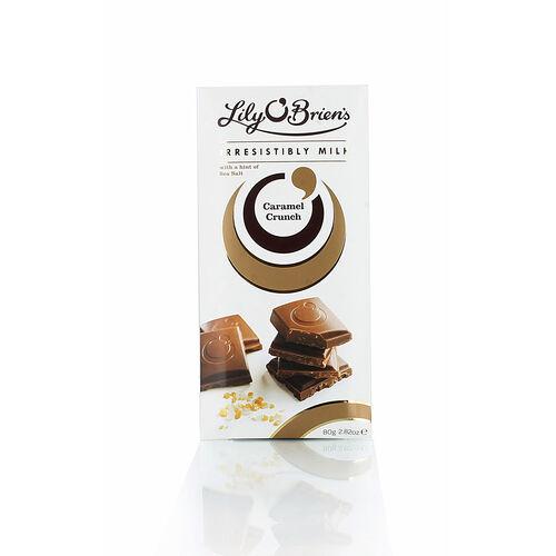 Lily O Briens Caramel Crunch Milk Chocolate Bar 80g