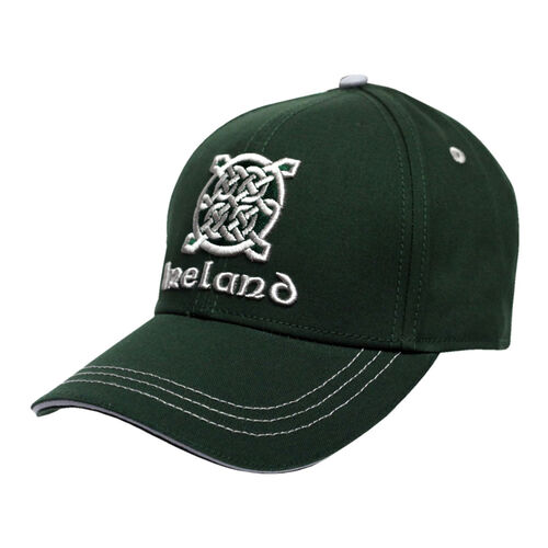 Traditional Craft Adults Green Celtic Knot Embroidery Baseball Cap