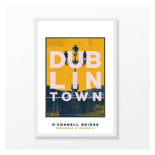 Jando  Dublin Town O'Connell Bridge Large Frame A3