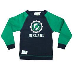 Irish Memories Navy Kids Sweatshirt With Crest