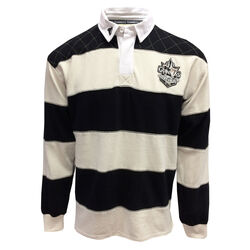 Guinness Guinness Cream/ Black Long Sleeve Rugby Top